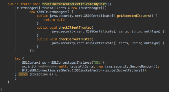 How to make the java runtime to trust the certificate